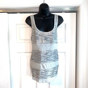 LKNW silver sequin EXPRESS tank top medium